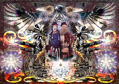 Klown Digital Art - Under The Bigtop  by Jamiam