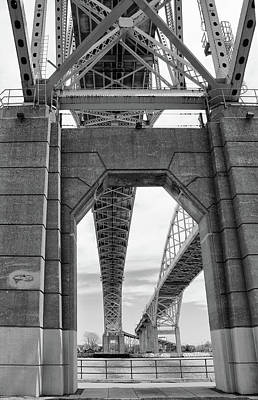 Photograph - Under The Blue Water Bridge 1 by Mary Bedy