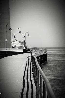 Photograph - Under The Blue Water Bw by Mary Bedy
