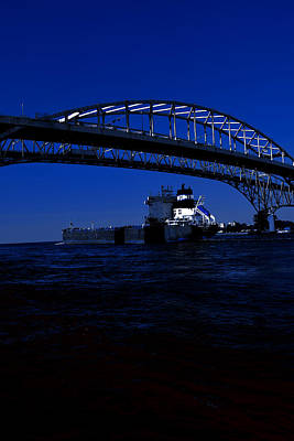 Photograph - Under The Bluewater Bridge In Blue by Gary Smith
