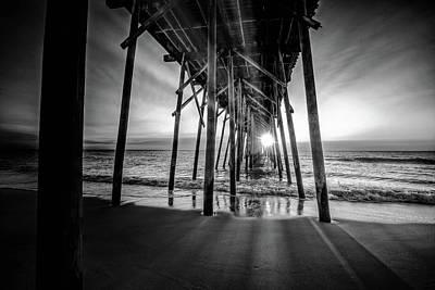 Digital Art - Under The Boardwalk Bw 1 by Michael Damiani