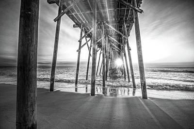 Digital Art - Under The Boardwalk Bw 2 by Michael Damiani