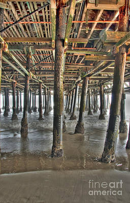 Photograph - Under The Boardwalk Pier Sunbeams  by David Zanzinger