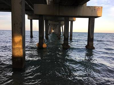 Photograph - Under The Boardwalk by Val Oconnor