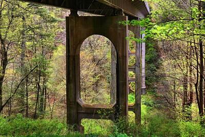 Photograph - Under The Bridge 4 by Kathryn Meyer