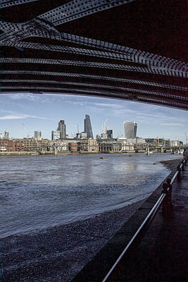 Photograph - Under The Bridge Across The Thames, London by Christopher Rees