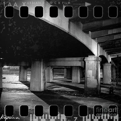 Photograph - Under The Bridge, Black And White by Greg Kopriva