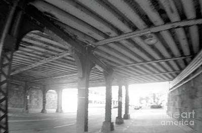 Photograph - Under The Bridge Black And White by John S