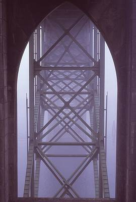 Photograph - Under The Bridge In Fog by HW Kateley