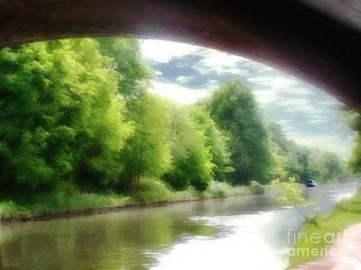 Mixed Media - Under The Bridge by Abbie Shores