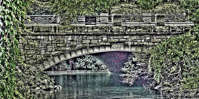 Digital Art - Under The Bridge by Leslie Montgomery