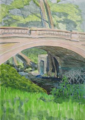 Bethany Lee Painting - Under The Bridge Over Rock Creek by Bethany Lee