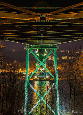 Lions Gate Bridge Photograph - Under The Bridge by Trevor Buchan