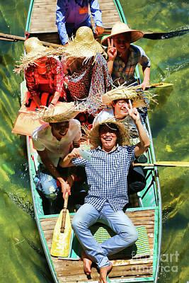 Photograph - Under The Bridge Vietnamese Smiles  by Chuck Kuhn