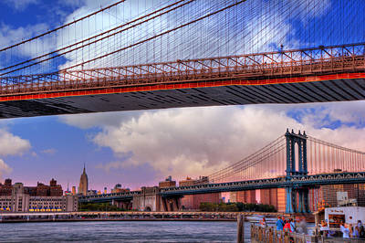 Photograph - Under The Brooklyn Bridge - New York City by Joann Vitali