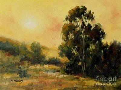Eucalyptus Painting - Under The California Sun California Tonalist Landscape by Karen Winters