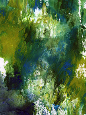 Green Mixed Media - Under The Canopy- Abstract Art By Linda Woods by Linda Woods
