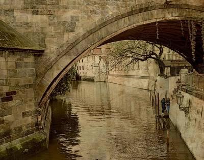 Czech Republic Digital Art - Under The Charles Bridge by Toni Abdnour