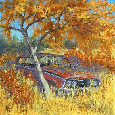 Under The Chinese Elm Tree Art Print