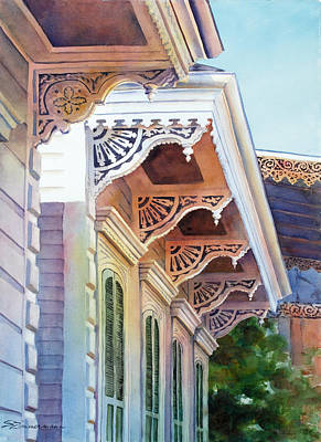 Corbels Painting - Under The Eaves by Sue Zimmermann