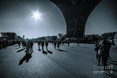 Photograph - Under The Eiffel Tower by Charuhas Images