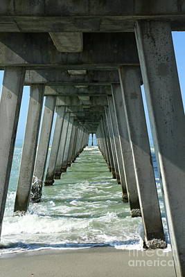 Photograph - Under The Fishing Pier  by Christiane Schulze Art And Photography