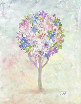 Mixed Media - Under The Flower Tree by Colleen Taylor