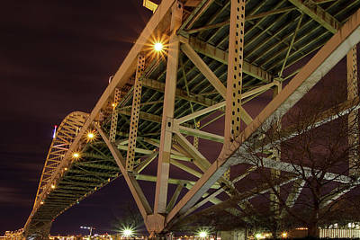 Photograph - Under The Fremont Bridge At Night by David Gn