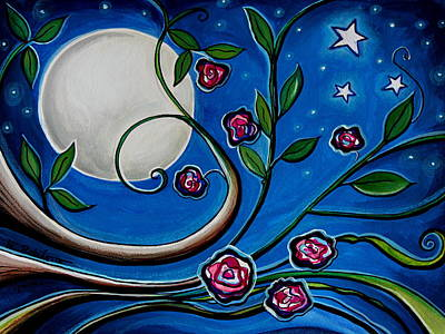 Painting - Under The Glowing Moon by Elizabeth Robinette Tyndall