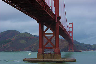 Photograph - Under The Golden Gate by Alexis Lee Scott