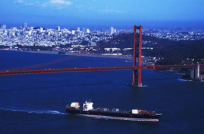 Art Print featuring the photograph Under The Golden Gate by Carl Purcell