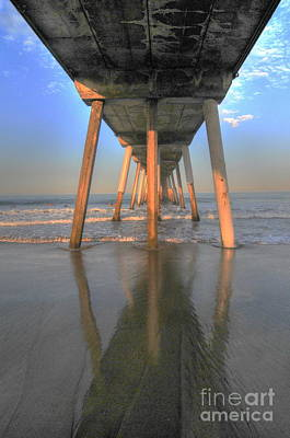 Photograph - Under The Hermosa Pier by Richard Omura