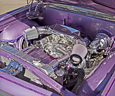 Photograph - Under The Hood 66 Impala_1b by Walter Herrit