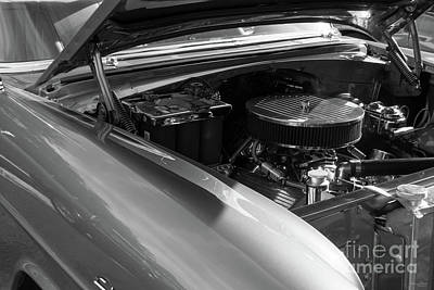 Photograph - Under The Hood Grayscale by Jennifer White