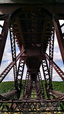 Photograph - Under The Kinzua Bridge by E B Schmidt