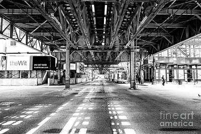 Photograph - Under The L Chicago by John Rizzuto