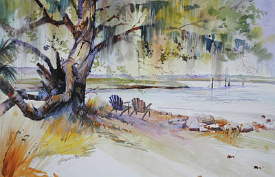 Painting - Under The Live Oak by P Anthony Visco