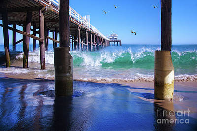 Photograph - Under The Malibu Pier by Jerry Cowart