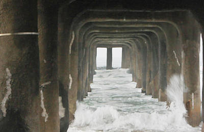 Photograph - Under The  Pier  by Gilbert Artiaga