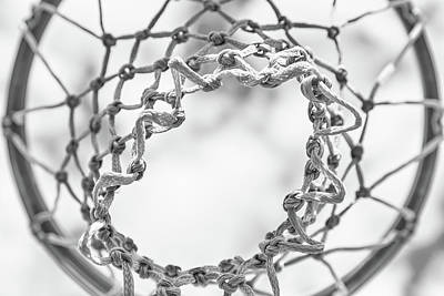 Basketball Hoop Photograph - Under The Net by Karol Livote