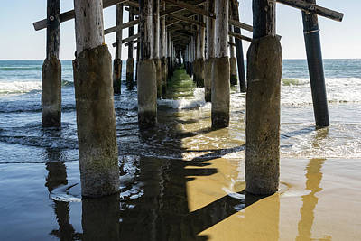 Photograph - Under The Newport Beach Pier Orange County California by Georgia Mizuleva