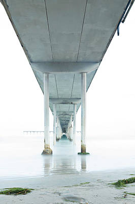 Photograph - Under The Ocean Beach Pier Early Morning by James Sage