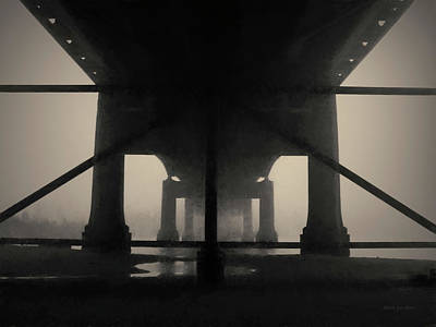 Photograph - Under The Old Sakonnet River Bridge Toned by David Gordon