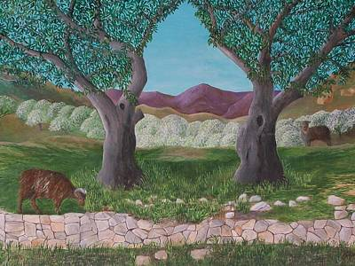 Painting - Under The Olive Trees by Joe Dagher