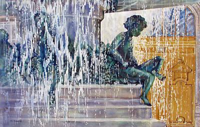 Under-the-parisian-sun Art Print by Nancy Newman