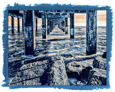 Photograph - Under The Pier Artistic by Judy Vincent