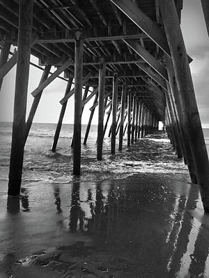 Photograph - Under The Pier At Myrtle Beach by Kelly Hazel