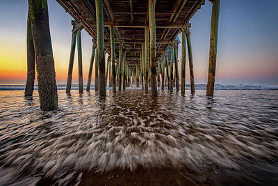 Art Print featuring the photograph Under The Pier At Old Orchard Beach by Rick Berk