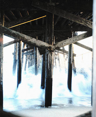 Bruce Wayne Photograph - Under The Pier Canvas by Bruce Wayne