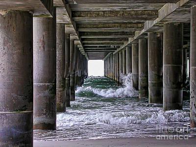 Ocean City Nj Photograph - Under The Pier by Edward Sobuta